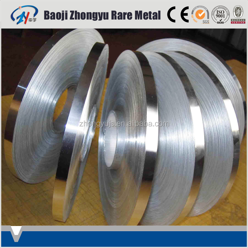 Gr3 Cold Rolled Pure Titanium Strip 0.025-2mm for Industry