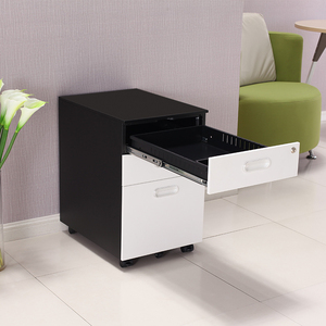 Hand in hand WD-J3 Curved shape front panels three drawers cabinet with Crescent shake handshandle