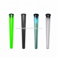 Eco-friendly Air Tight Pre-rolled Smoke Cone 109mm Plastic Joint Container Tubes