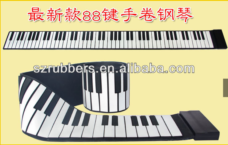88 Keys folding silicone electronic keyboard Multifunction roll up piano