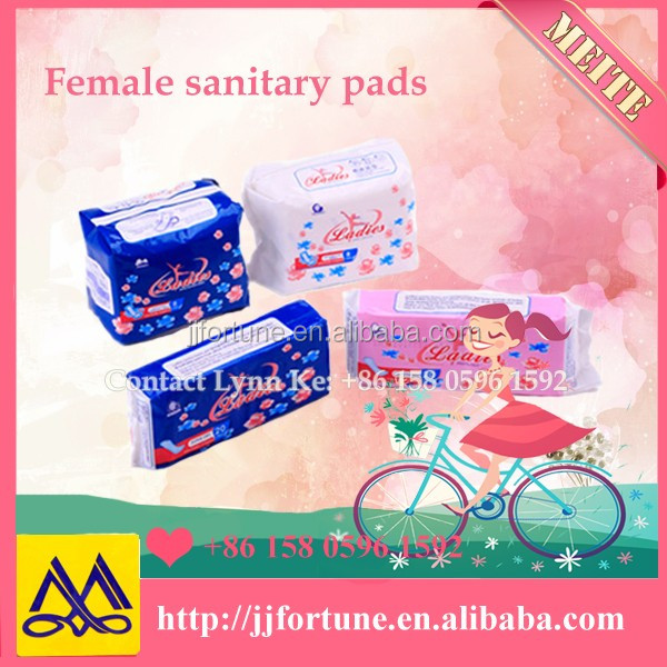 Cotton/ mesh surface disposable female sanitary napkin, sanitary pads