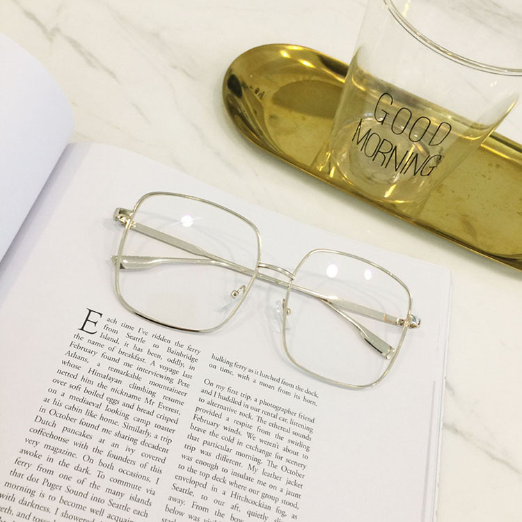 latest product of china sunglasses square oversized vintage unisex metal optical frame clear lens nice eyeglasses for women