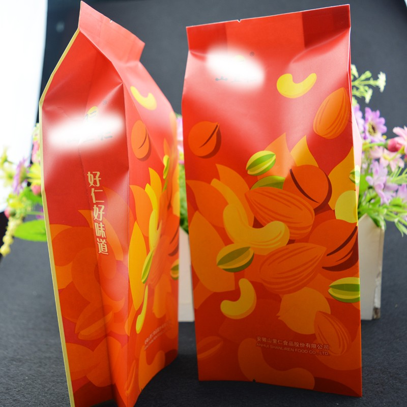 STAND UP POUCH Food Safe Candy Snack printed Kraft Paper Merchandise / Grocery Bags