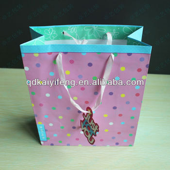 Lovely Kids Decorate Gift Paper Bag Paper Gift Bag Purple Paper