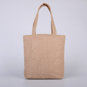 Foldable E-Friendly with lining functional Jute tote bag for women shopping