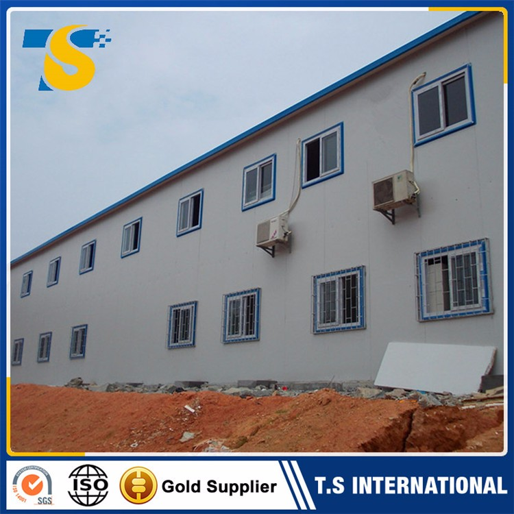 Professional design steel frame T type prefabricated wooden house price