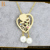 luxury heart shaped stainless steel jewelry set for weddding