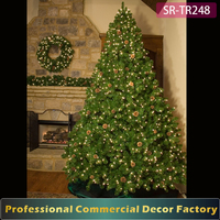 Indoor 2m 3m 4m 5m pre lit fir christmas tree for hotel lobby