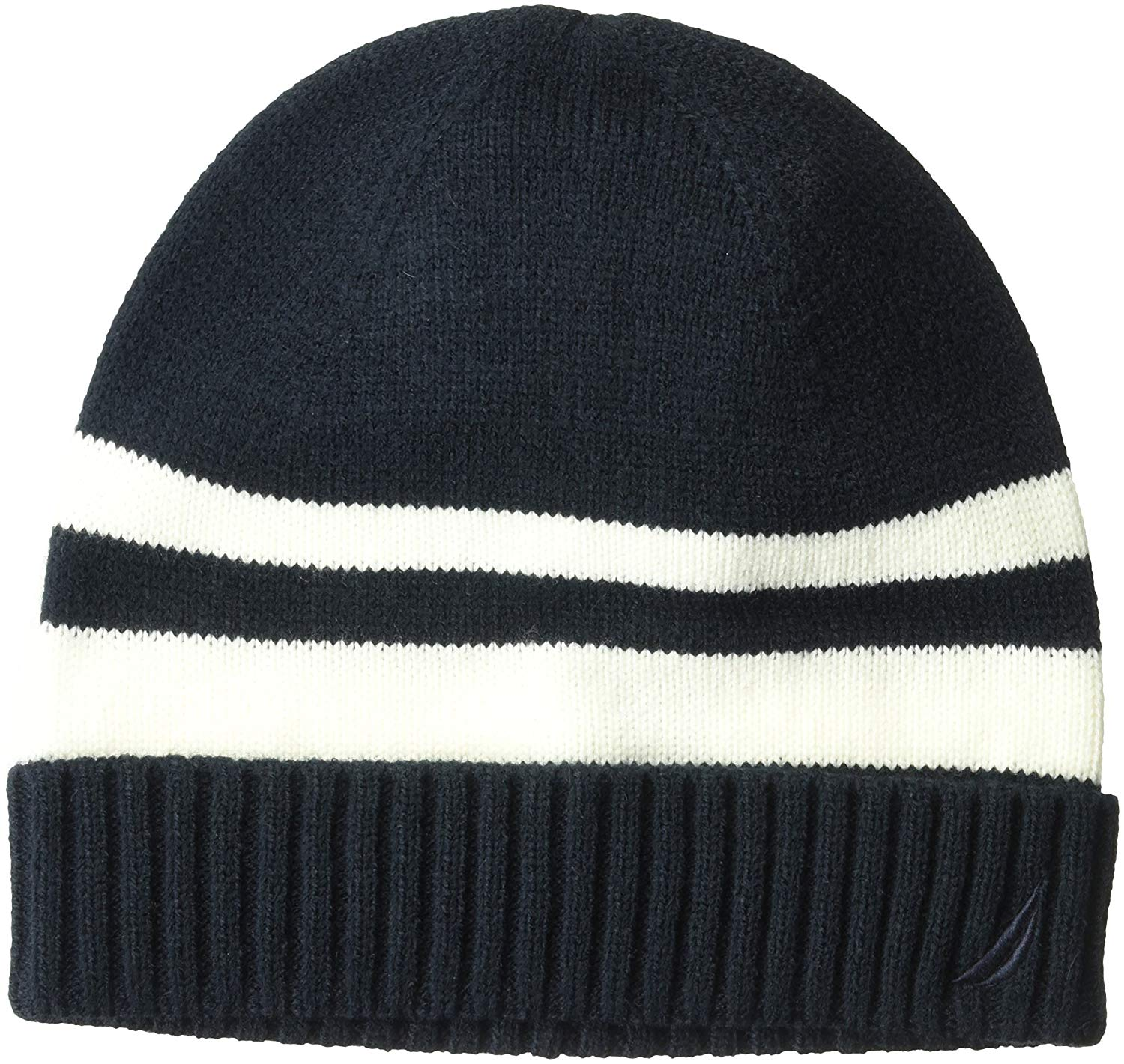 056c2bafebb80 Get Quotations · Nautica Men s Striped Hat With Ribbed Cuff