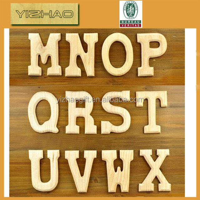 Hot Sell Wooden Decorative Alphabet Letters,decorative cardboard letters