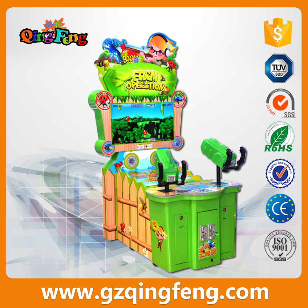 Qingfeng Farm wars children's double bolt game playing  game amusement