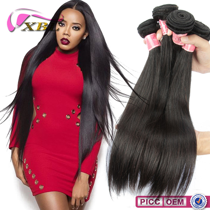 xbl back to school sale silky straight top sell remy virgin brazilian hair <strong>weave</strong>