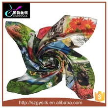 Custom Digital Print Chinese square scarf wholesale