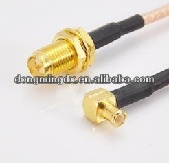 Rf Coaxial Cable Assembly Rp Sma Female To Mcx Male Right