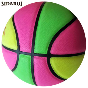 Inflatable Colorful size 5 sports toy ball PVC material custom logo kids basketball