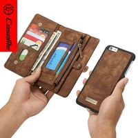 for iPhone 7 6s 6 plus Case Cover, CaseMe New Products 2017 Leather Flip Phone Case Cover for iPhone 6 plus, for iPhone6 plus