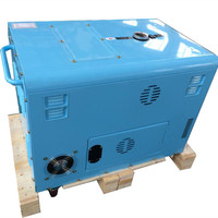 7.5 kva generator price with slient box for wind cooling generator