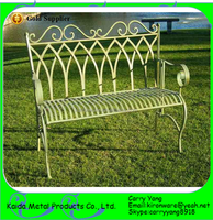 Beautiful Wrought Iron Kids Garden Bench