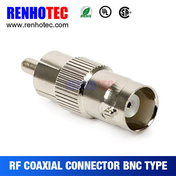 Straight BNC Female to RCA Male Connectors Adapter