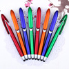 Office Supplies Pen Topper Promotional Gift Plastic Materal Stylus Click Ball Point Pen