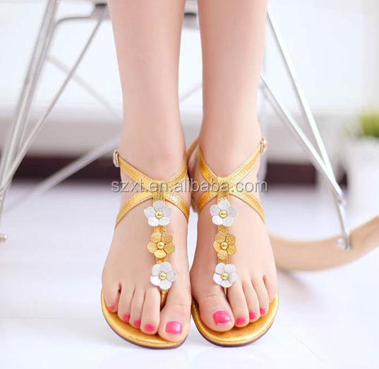 2015 Latest Design Ladies Shoes Hot Sale Simple Ladies Flat ...