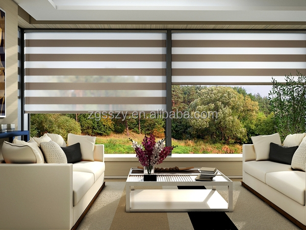 Zebra Roller Blinds Fabric For Windows Blackout Blind