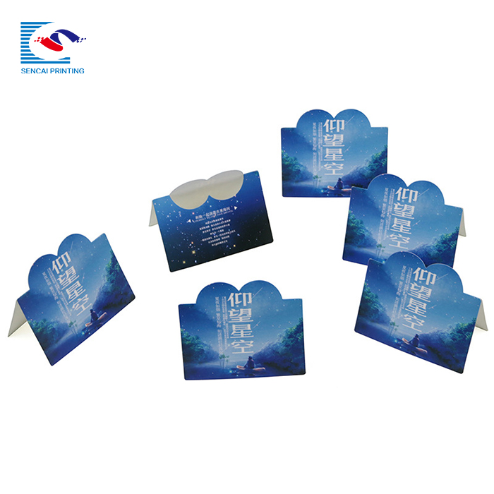 SENCAI cheaper custom printing thank you for shopping card on your design