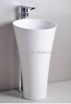 Merveilleux Latest Round Pedestal Vanity Unit Freestanding Bathroom Sinks,Artificial  Stone Pedestal Basin, Freestanding Hand