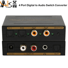 4x1 spdif switch box Digitale ad analogico convertitore <span class=keywords><strong>interruttore</strong></span>