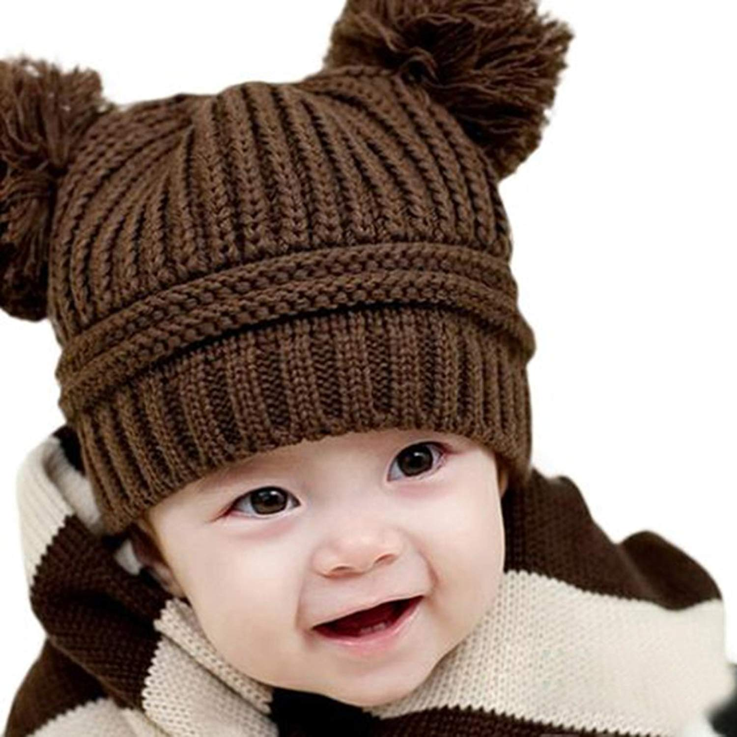 Girl's Hats Smart Cute Baby Winter Hat Warm Child Beanie Cap Animal Cat Ear Kids Crochet Knitted Hat For Children Boys Girls Hot New 100% Guarantee Girl's Accessories