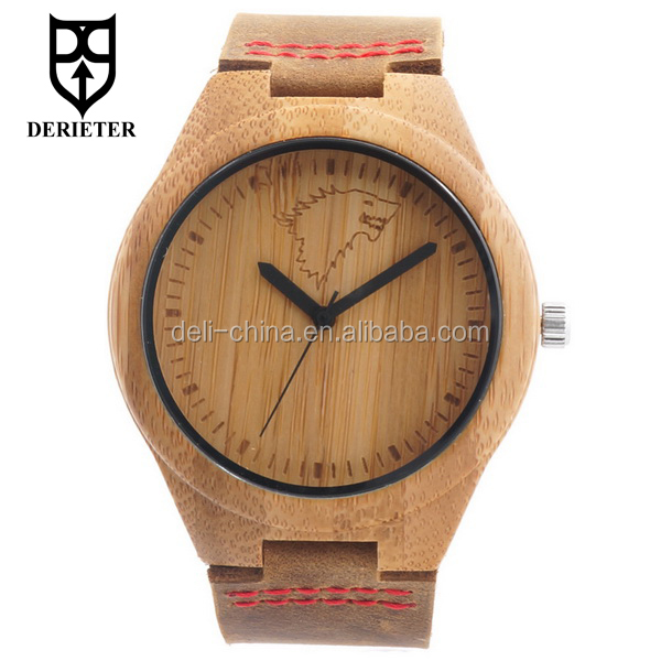 Oem Stark Wolf Logo Lederband Holz Uhr Geschenk Uhr Wasserdicht Buy Holzlederband Uhrgeschenk Wach Product On Alibabacom