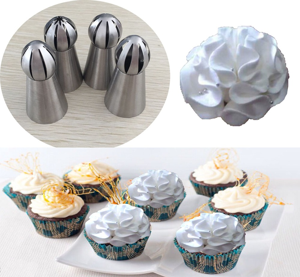 Decorating Cake With Russian Icing Tips