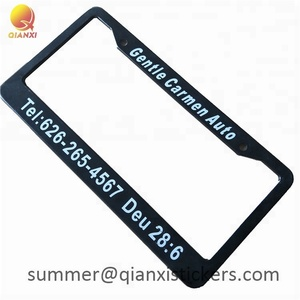 Stainless steel decorative custom motorcycle car license plate frames