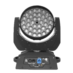 China new led dmx zoom 5in1 rgbwa case 36 led moving head wash