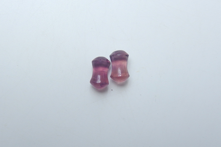 Gem Wholesale Ear Plugs Rainbow Fluorite Stone Factory Prices 6mm 1.5 flare 14 Thickness Convex
