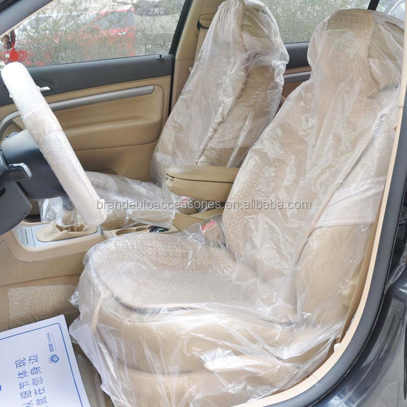 Excellent customer service disposable  LDPE HDPE car seat cover for car