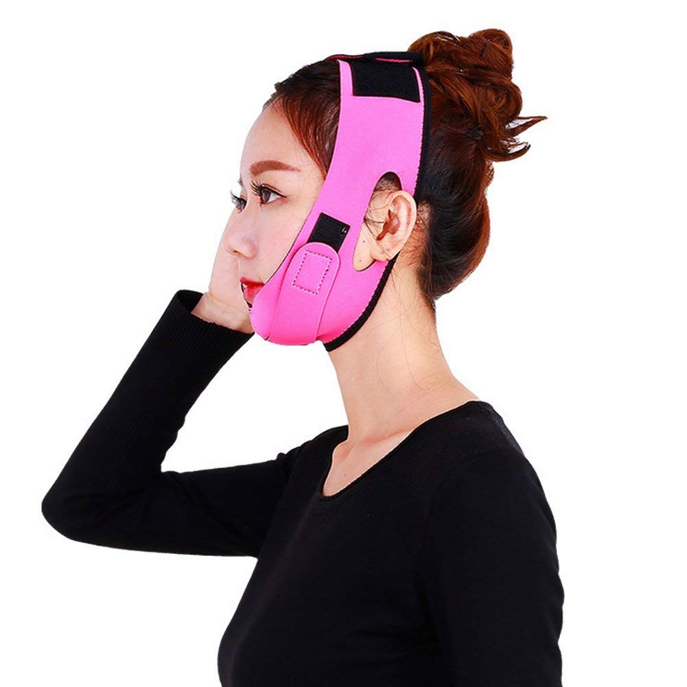 unbrand Women Face Slimming V Face Line Belt Ultra-thin Strap Band Chin Cheek Slim Lift Up Anti Wrinkle Mask Facial Beauty Tool