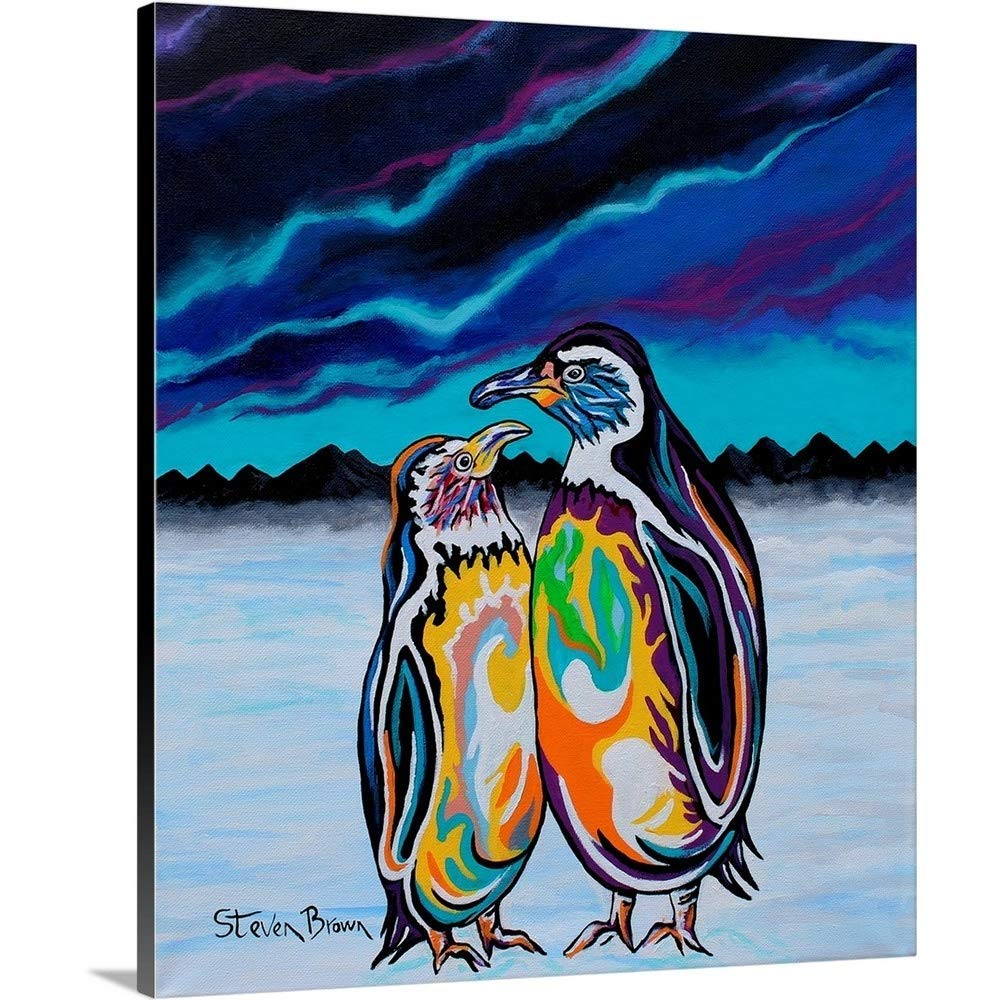 """GREATBIGCANVAS Gallery-Wrapped Canvas Entitled ALEC and Annie McZoo by Steven Brown 25""""x30"""""""