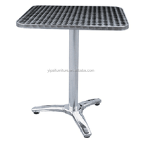 stainless steel table folding coffee table small lightweight restaurant bar bistro table steel legs YT1A