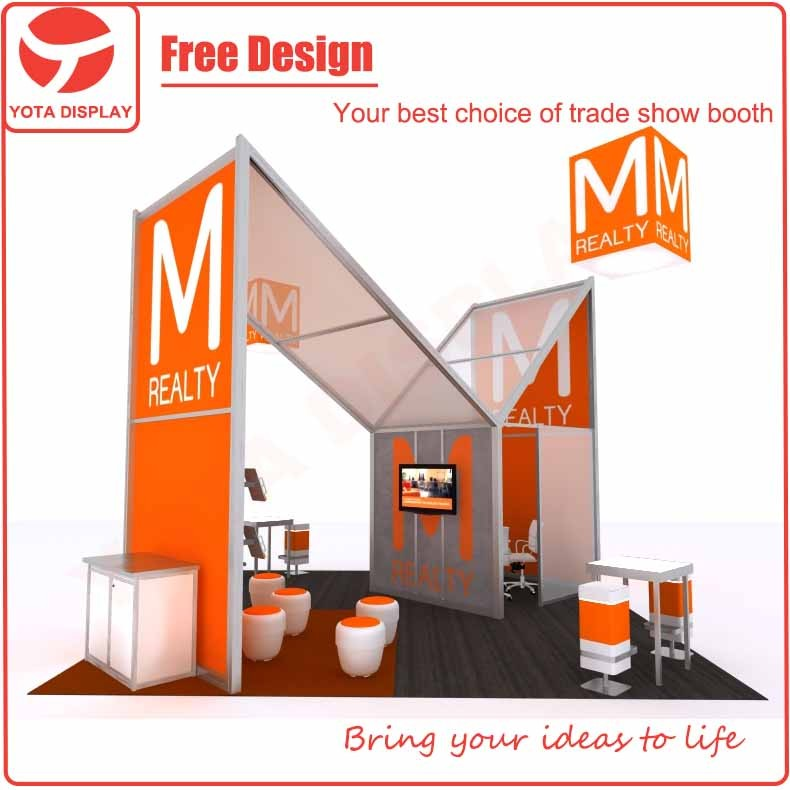 Yota Custom Shape Printed Tradeshow M Series Booth Exhibition Stand Construction For Advertising