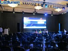 2012 the hottest sale P4.8 mini fullcolor flexible advertising indoor replacement led tv screen