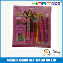nice packing cartoon painting stationary pencil eraser set school supplies wholesale