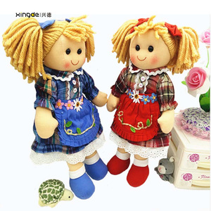 China factory life size custom stuffed human plush handmade rag dolls