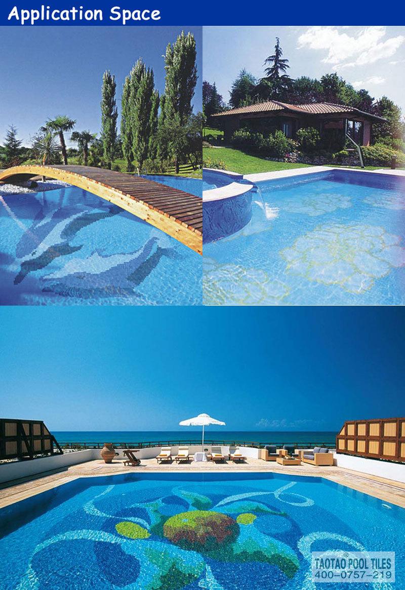 Alibaba China Foshan Swimming Pool Tile Ceramic Mosaic Dolphin ...