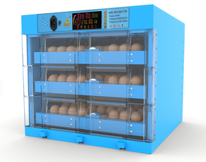 2018 newest design elegant blue 180 egg incubator for chicken /duck /goose/turkey for sale