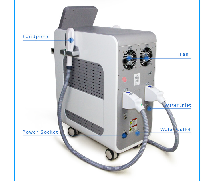 Professional painless skin rejuvenation ipl elight hair removal machine