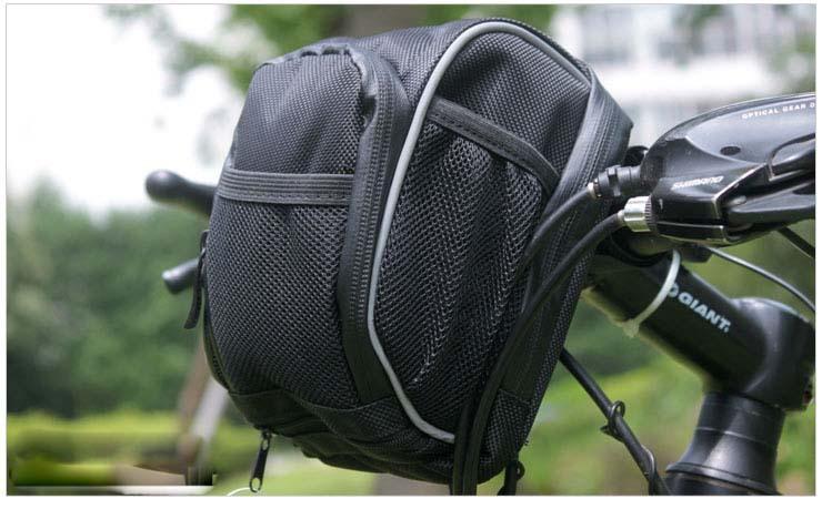 Mountain Bike Tube Bag Bicycle Handlebar Bag With Rain