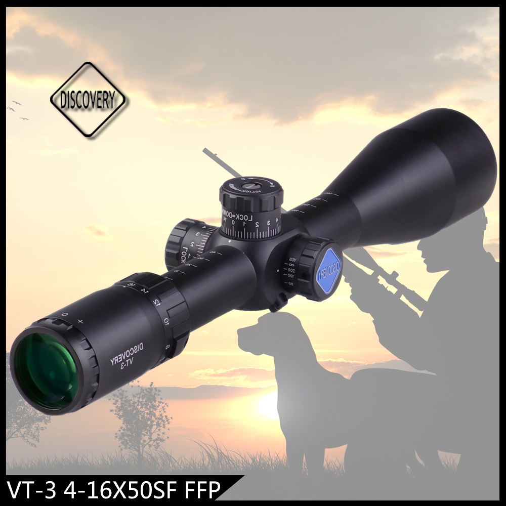 Discovery optical Scopes & Accessories VT-3 4-16X50SF first focal plane retical riflescope with side adjustable focus