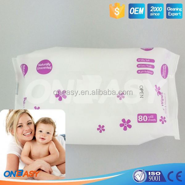 baby promotion product organic 80ct babywipe manufactory in china