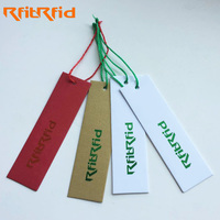 uhf customized paper rfid tag for clothing/inventory management